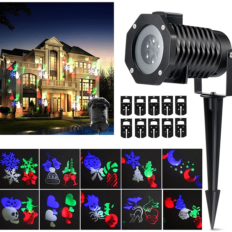 Laser Projector Lamps LED Stage Light Heart Snowflake Christmas Party Landscape Light Garden Lawn Lamp Outdoor Lighting kmashi snowflake lamp sparkling landscape projector waterproof decor spotlights garden tree wall christmas holiday lighting eu