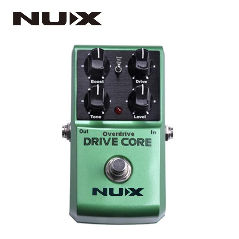 NUX ядро привода Нормальная и роскошная гитара Violao части Электрический эффект педаль смесь Boost и Overdrive звук истинный обход