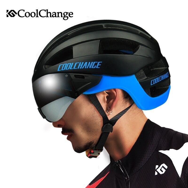 CoolChange-Casco de Ciclismo EPS para hombre, moldeado integralmente, con 16 orificios, a...