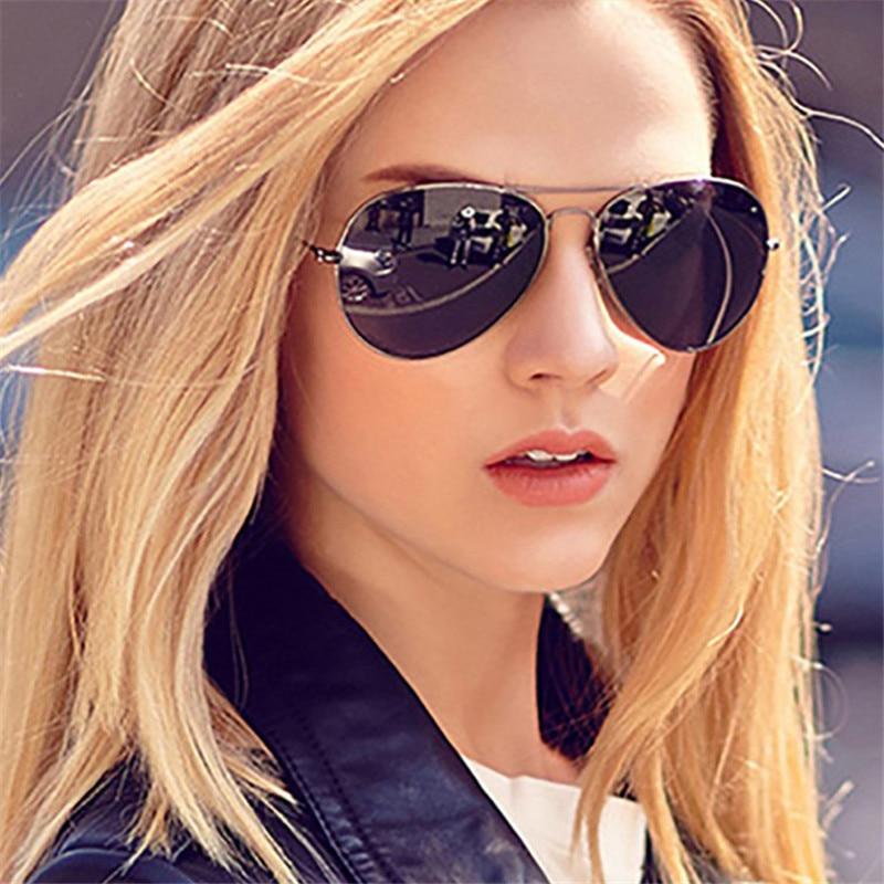 2019 Classic Aviation Sunglasses Women Men Driving Eyewear Metal Frame Male Female Mirrors Coating R