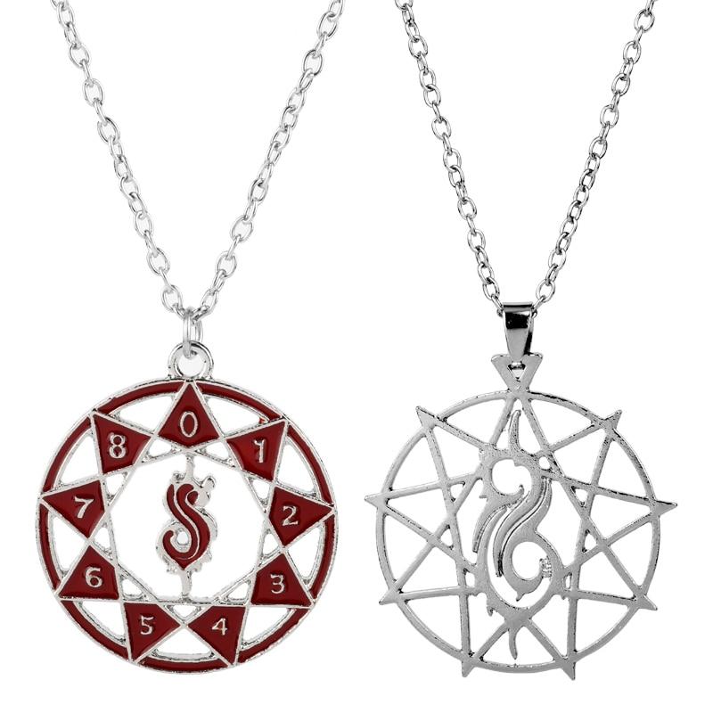 Колье с логотипом рок-группы Slipknot для мужчин и женщин, музыкальные фанаты, подарок, модное ювелирное изделие, цепочка с подвеской, колье