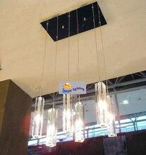 6-light Kitchen fixture Lighting Dining room crystal lamp chandelier suspension crystal bar lamp stairway hanging light bedroom