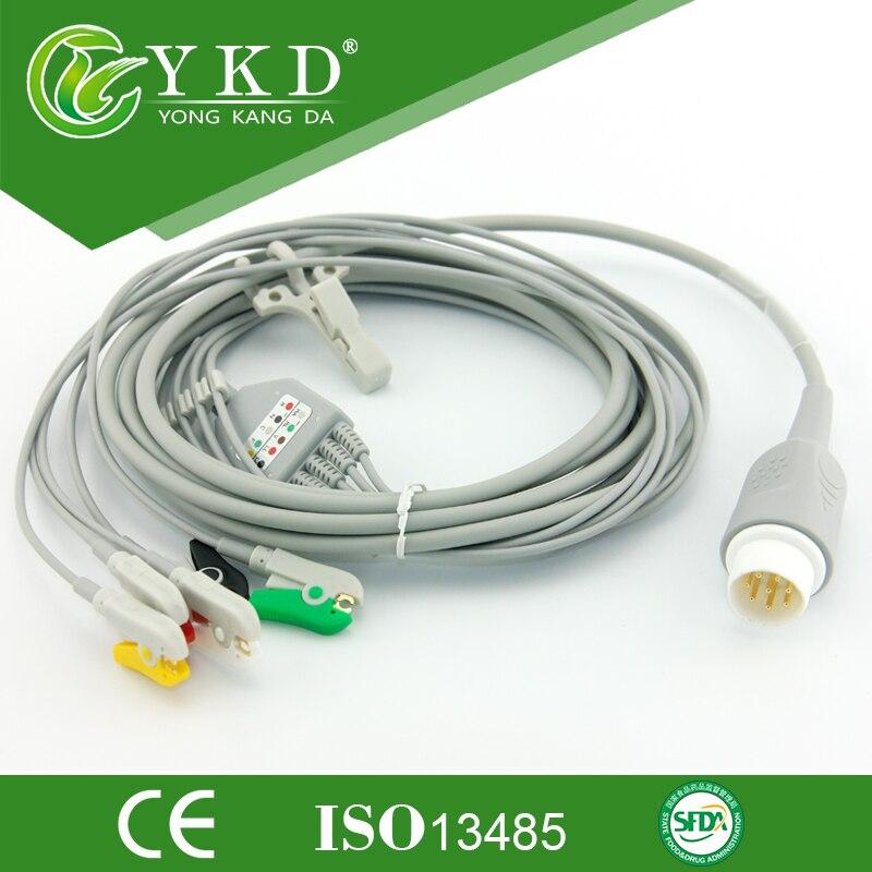 Cable de paciente serie envío gratis de una pieza con cables IEC, 5LD, CLIP, 8 pines