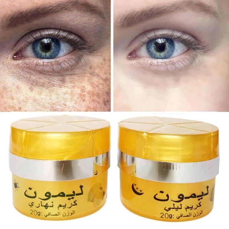 Limão rosto manhã e noite rosto creme dessalinização clareamento creme cuidados com a pele 1 pces/2 pces/3 pces