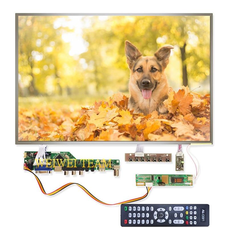 17 pulgadas lcd monitor 1440x900 monitor de LVDS 30 pines pantalla B170PW03 V4 panel de pantalla con V53 universal TV VGA AV HDMI USB Placa de Control