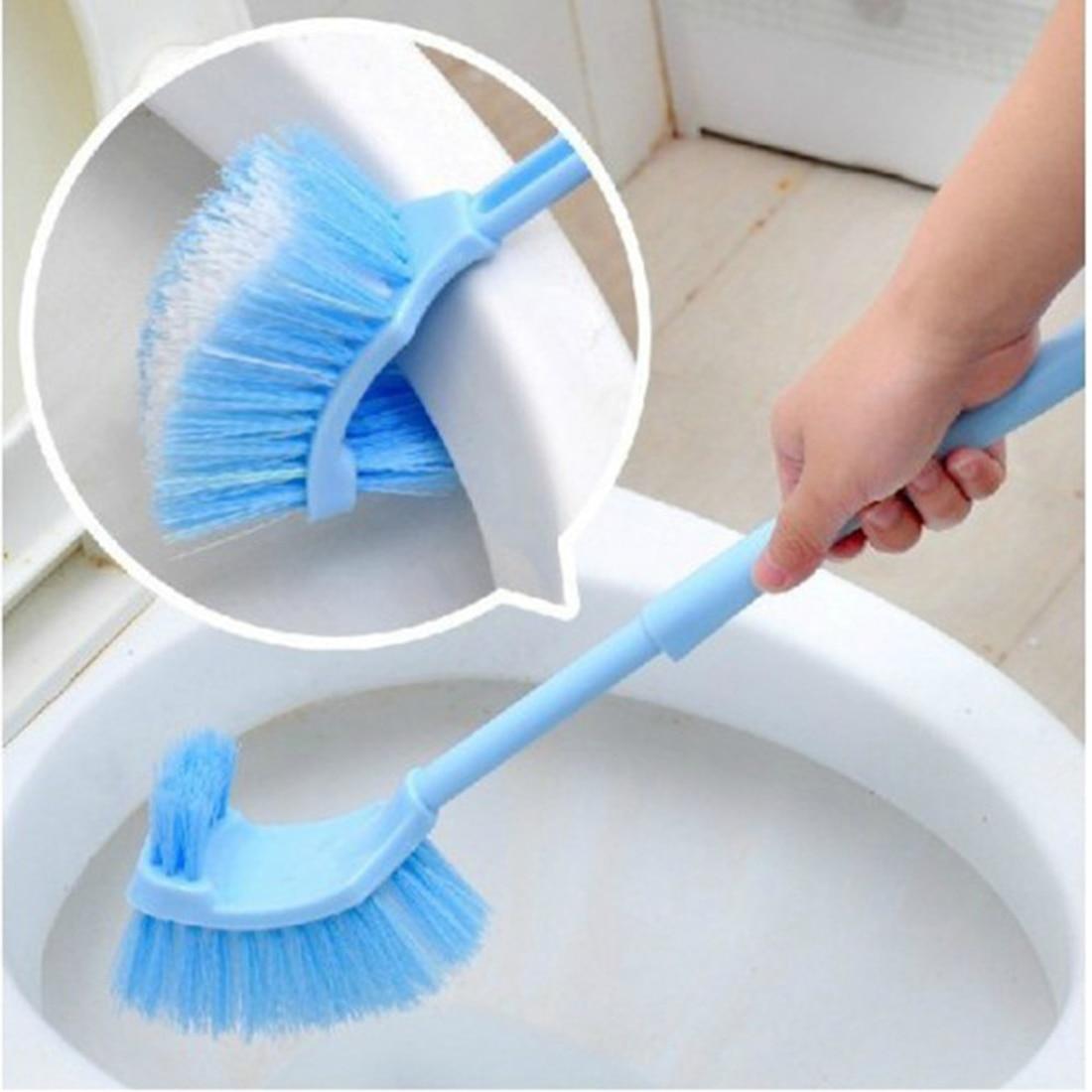 Полезная портативная щетка для унитаза пластиковая длинная ручка для ванной унитаз Скраб Двухсторонняя щетка для чистки