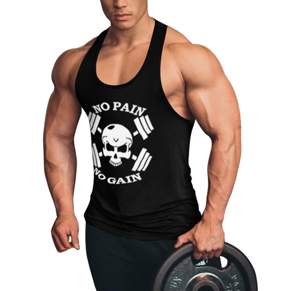 Мужские майки для фитнеса без боли без усиления, спортивные мужские майки для бодибилдинга, майки для фитнеса