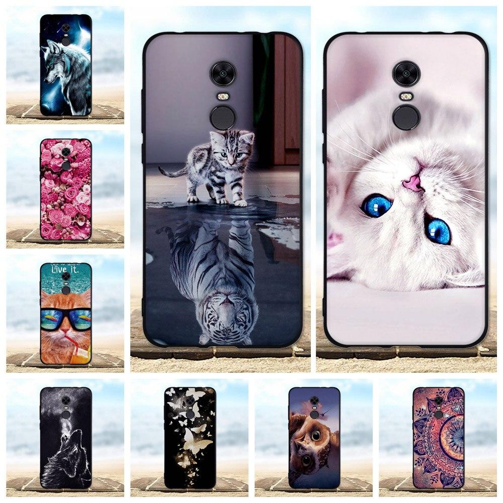 Para Xiaomi Redmi 5 Plus suave Funda de silicona TPU Coque para Xiaomi Redmi 5 Plus Funda con dibujos de animales para Xiaomi Redmi 5 Funda