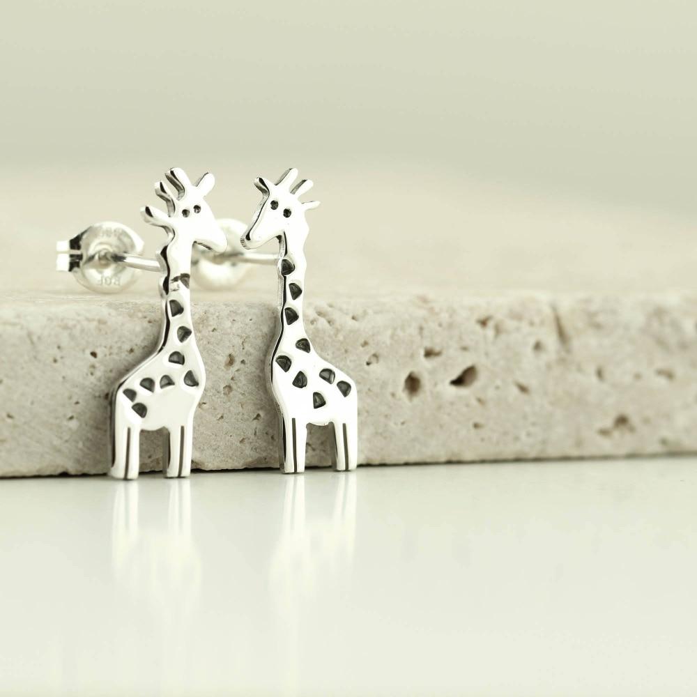 Daisies Cute Giraffe Epoxy Spots Stud Earrings Animal Jewelry for Women Party Birthyday Gift