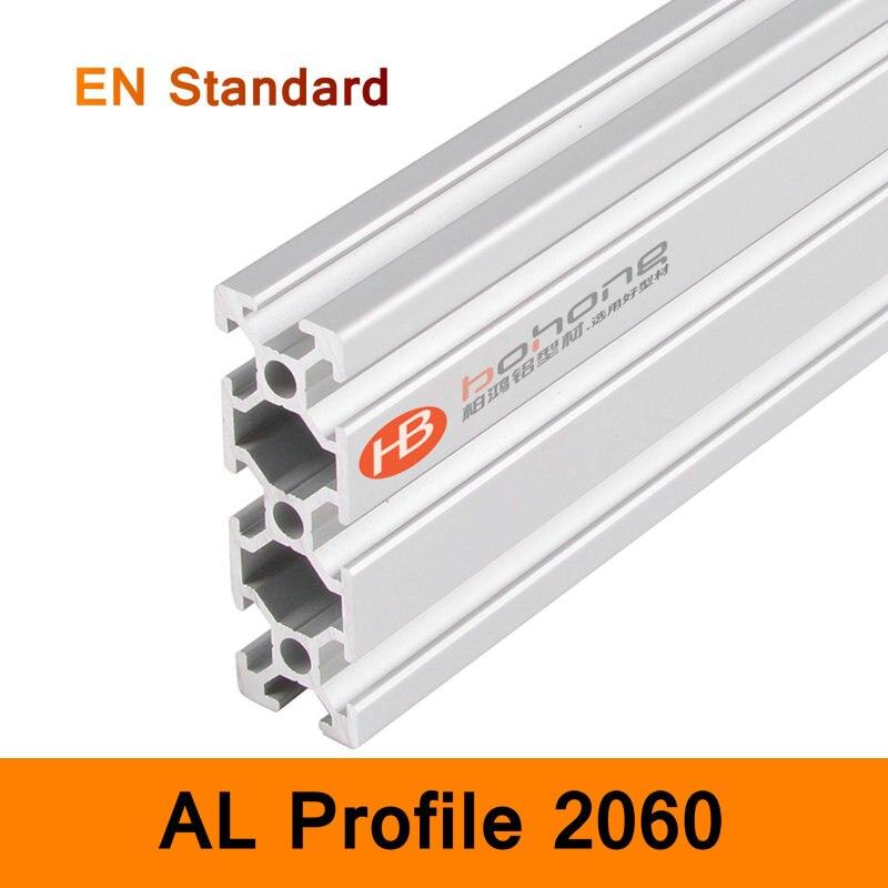 2060 Aluminium Profile EN Standard Brackets for DIY Bracket Table Holder AL Aluminum Shape 200-500mm Customized Size Slot Rail
