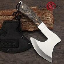 Couteau à désosser acier inoxydable hacher la viande os hache de survie Camping feu hachette Portable outil de plein air couteau utilitaire de chasse