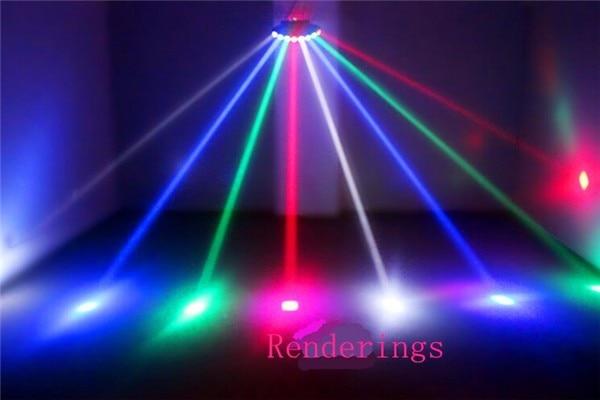 Сканер восьми глаз светодиодный Яркий КРИ сканирование луча сценический эффект светильник/восьмиглазый четырехлучевой Бар Диско вечерние...