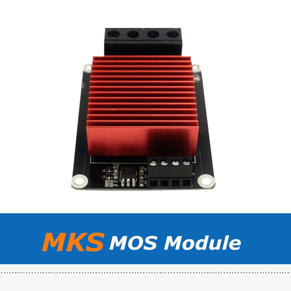1 unidad de gran corriente por encima de 30A controlador de calefacción MKS módulo MOSFET MOS para accesorios de impresora 3D extrusora de cama de calor