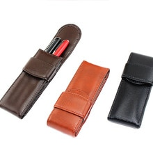 Stationery leather Pencil Case school Pencil Bag Writing pencil case Office Supplies Pen bag Student