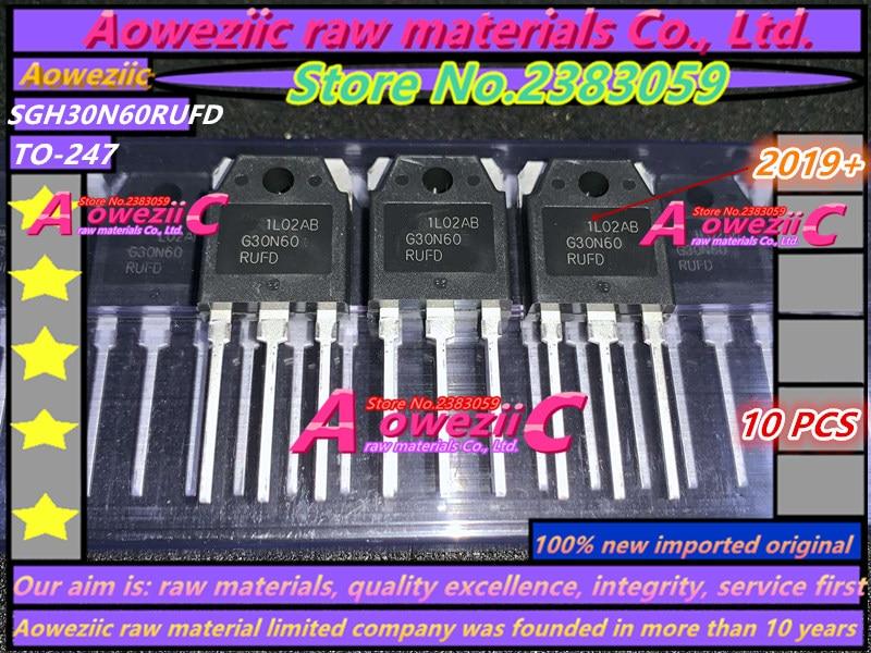 Aoweziic 2019 + 100 ٪ جديد مستورد أصلي, G30N60 G30N60RUFD SGH30N60RUFD SGH30N60RUFDTU TO-247 IGBT ترانزستور 30A 600V