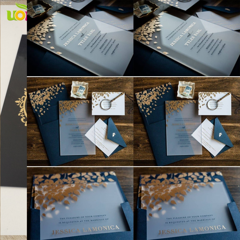 2018 free design custom colorful printing envelope for acrylic card wedding invitation card