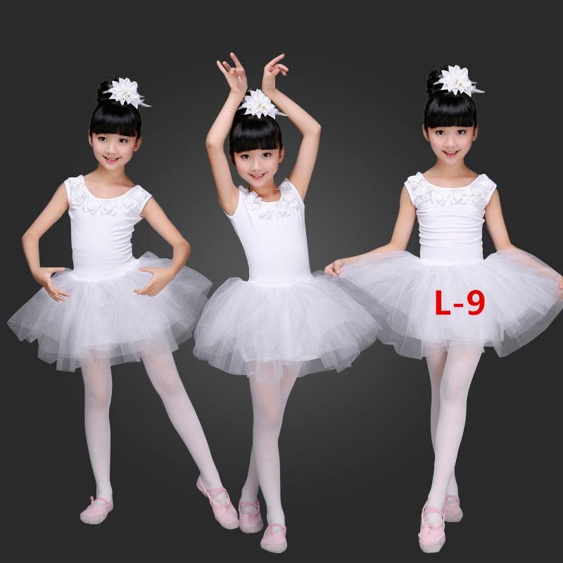 girls-little-swan-dance-skirt-tutu-costume-dance-clothes-children-white-ballerina-dress-kids