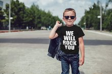 We Will Rock You Kids T Shirt Unisex Youth Short Sleeve Shirt Rock Anthem Childrens T-shirt Queen Kids Rocker Tshirt Tee Baby