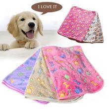 Mignon chaud chat/chien tapis couverture de lit serviette chat chien doux couverture haute sommeil garder au chaud os empreintes étoiles coeur motif plat peluche