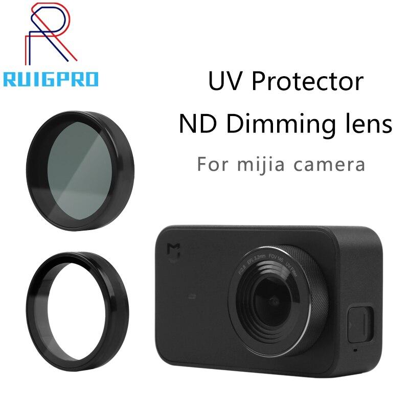 Filtro uv nd densidade neutra filtores capa protetor de proteção para mi jia xiao mi ni mi jia 4 k acessórios da câmera do esporte