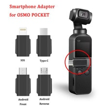 Smartphone adaptateur téléphone Micro USB TYPE-C Android IOS connecteur pour iPhone Huawei Xiaomi Samsung DJI OSMO caméra de poche