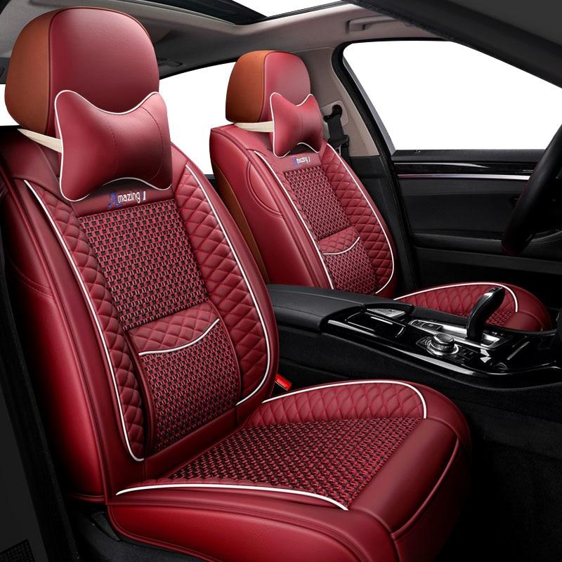 Кожаный чехол для автомобильного сиденья bmw e46 e36 e39 аксессуары e90 x5 e53 f11 e60 f30 x3 e83 Чехлы для автомобильного сиденья