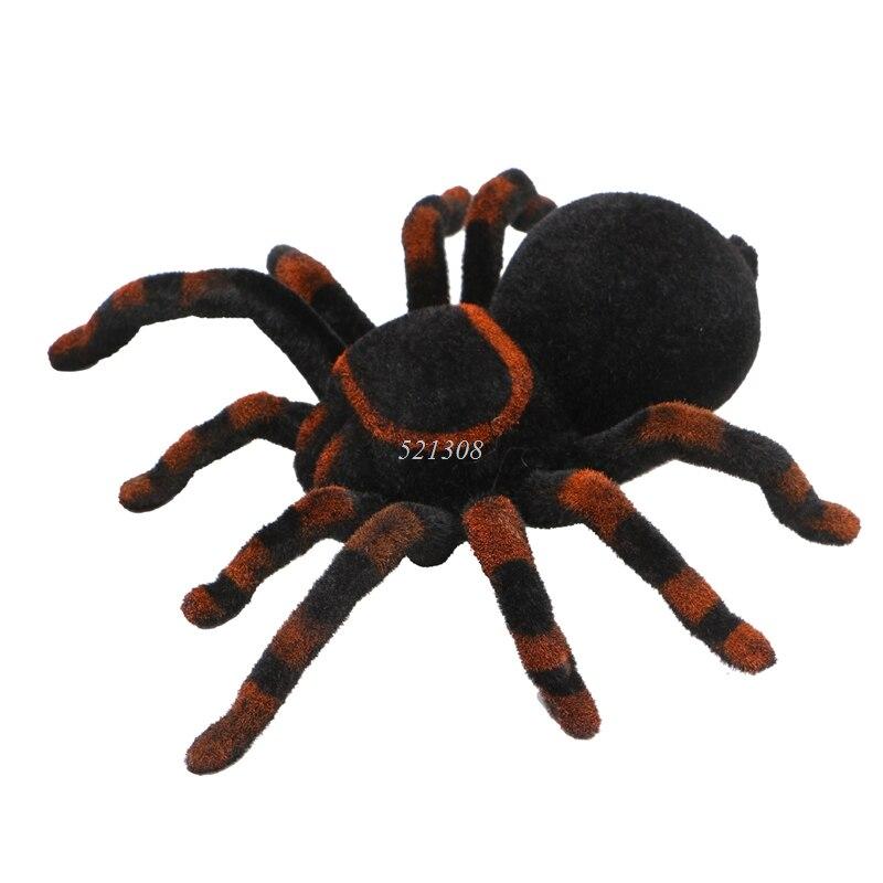 Пульт дистанционного управления мягкий страшный плюшевый жуткий паук Инфракрасный RC тарантула детский подарок игрушка MAY16_35
