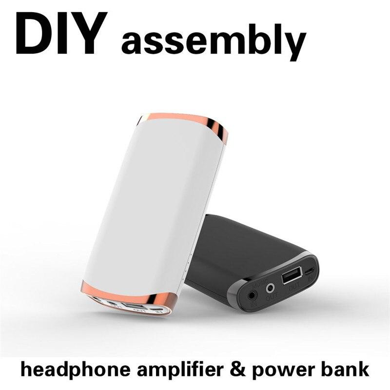 Artextreme PA01 Professional HiFi Headphone Amplifier Power Bank DIY Assembly Kits Audio Amp Classic Large Power Headphone Amp