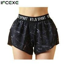 Женские спортивные шорты для бега, 2 в 1, шорты для йоги, фитнеса, пляжа, компрессионные шорты