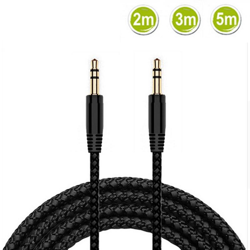 2 м, 3 м, 5 м, 3,5 мм, Aux кабель, штекер 3,5 мм, штекер AUX аудио, стерео кабель для наушников, 3,5 мм, Aux аудио кабель, шнур для телефона, наушники