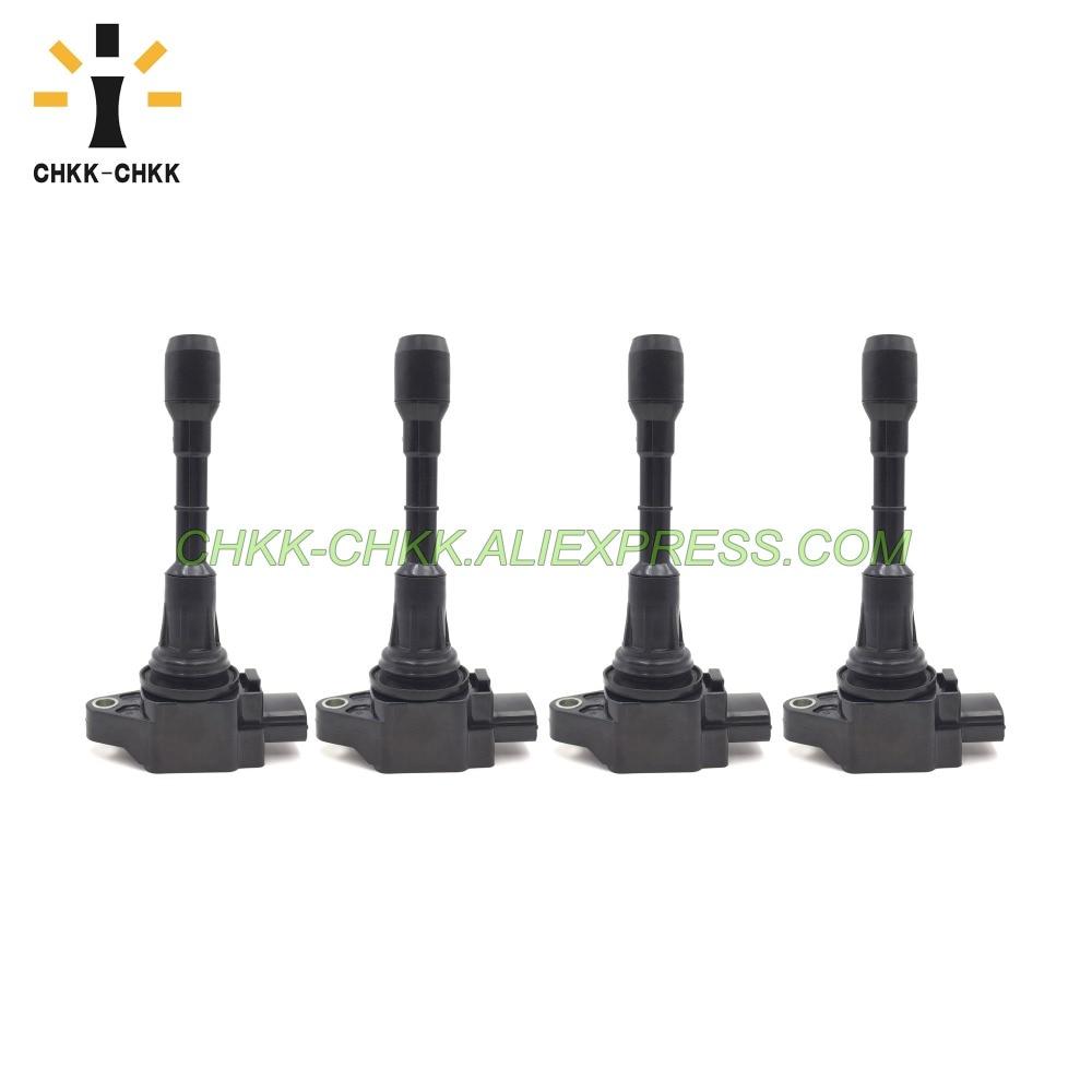 4PCS CHKK-CHKK 22448-JA00C New Car Ignition Coil for Nissan Altima Rogue Sentra Versa Infiniti 22448JA00C
