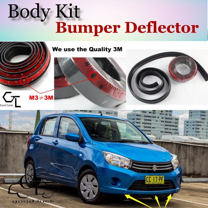 Bumper Lip Spoiler Dianteiro Lábios Defletor Para Suzuki Celerio Saia Para TopGear Amigos a Opinião Do Carro Tuning/Body Kit/Strip