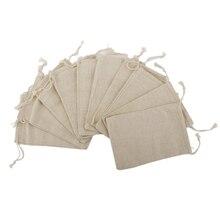 10 stücke 15*20 cm Leinen Tasche Kordelzug Hochzeit Weihnachten Verpackung Pouchs Geschenk Taschen Kleine Schmuck Beutel Mini Jute taschen