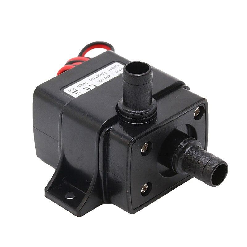 Mini dc12v 240l/h abs brushless motor submersível bomba de água 4.8 w 5.5cm x 3.4cm x 4.1cm