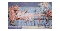 nude figurative painting canvas portrait art poster picture court painting sleeping nude beauty in sofa modern decorative art