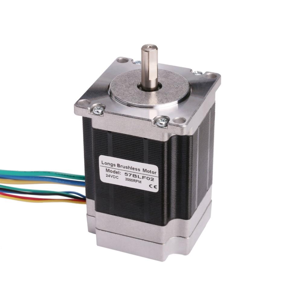 جهاز توجيه CNC LONGS ، 57BLF02 ، 125 واط ، 24 فولت ، 3000 دورة في الدقيقة ، نيما 23 1.2N.m