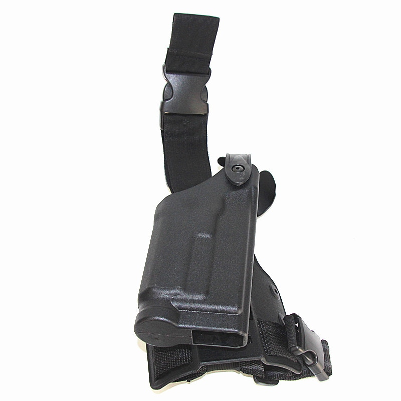 Funda táctica de muslo accesorios de caza HK USP luz Bearning disparo combate gota pierna pistolera