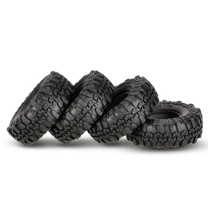 Parte del coche 4 Uds 1,9 pulgada de roca neumáticos crawler con borde de la rueda de la cerradura del grano para el coche AXIAL D90 SCX10 RC4WD TF2 RC