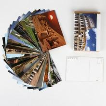 30 pièces/ensemble voyage partout dans le monde carte postale/carte de voeux/carte de Message/anniversaire lettre enveloppe carte-cadeau deux tailles