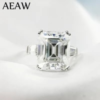 5 carat ct 9x11mm df grade emerald cut engagementwedding moissanite lab diamond baguette ring genuine 14k 585 white gold