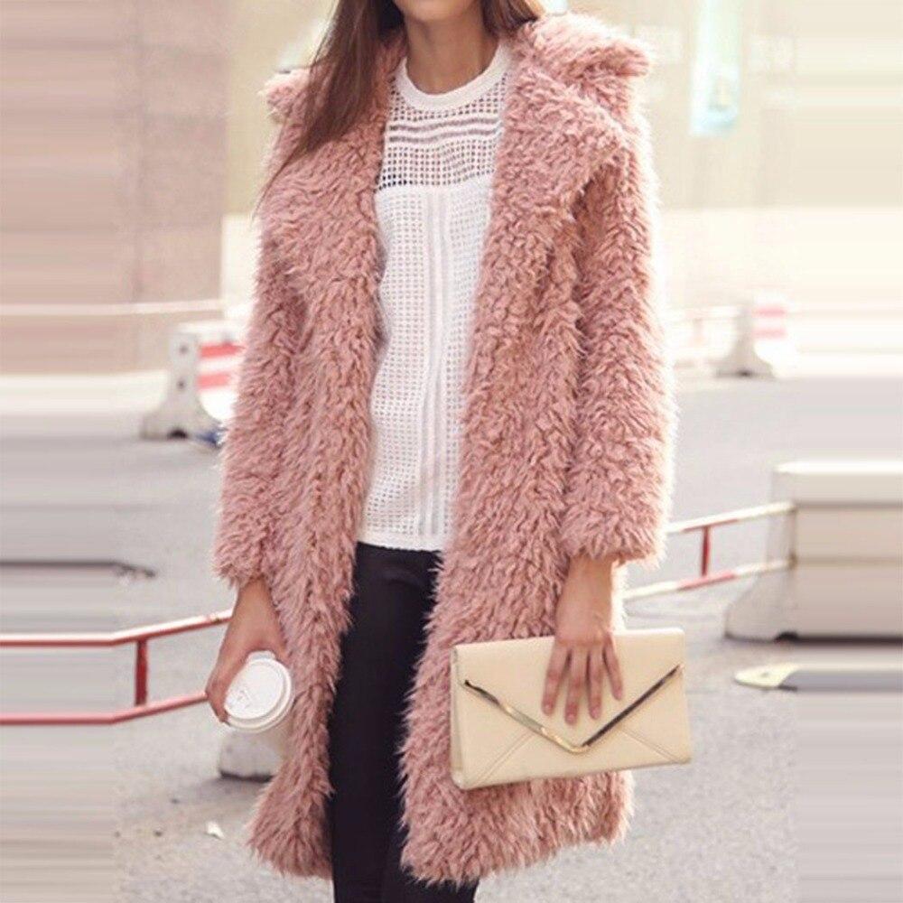 Gabardina de Invierno para mujer, chaqueta de lana con manga de nueve puntos, 2019, Chaqueta larga de solapa nueva, chaqueta de abrigo para mujer