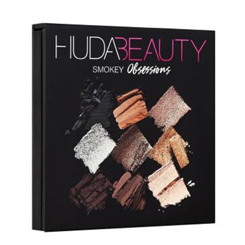 Paleta de sombras de ojos Hudas Beauty, paleta de sombras de ojos SMOKEY, 9 colores, Sombra de ojos, paleta de maquillaje, Sombra de ojos con brillo