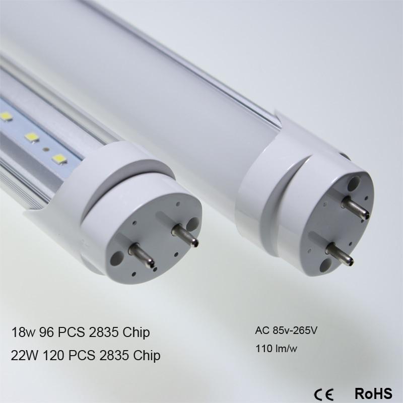 Indoor lighting 30 PCS 1200mm LED Tube Lamp 18W 22W T8  4FT LED Bulbs 120LEDs AC85-265V Cold White/Warm White