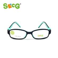 SECG-lunettes optiques pour enfants   Top marque, montures, lunettes TR90 pour enfants, lunettes transparentes et claires pour enfants, lunettes