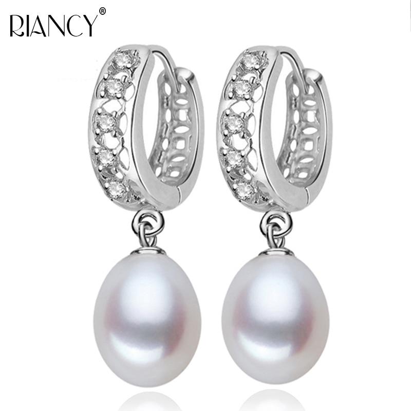 Real Pearl hoop Earrings, Natural Freshwater black pearl earrings 925 sterling silver pearl earrings gray pearl earrings jewelry