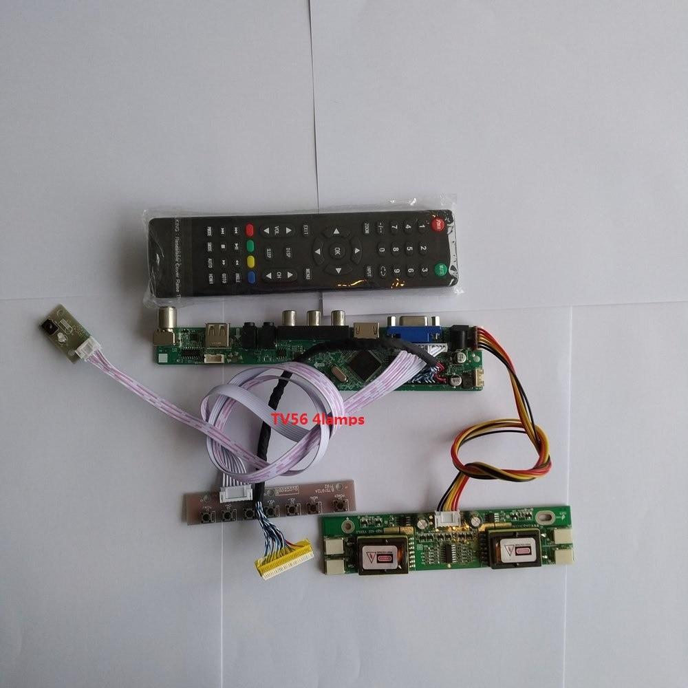 for M170EG01 V8 VGA AV Digital Signal 30pin New LCD  Controller Driver Board 4 lamps 1280X1024 17