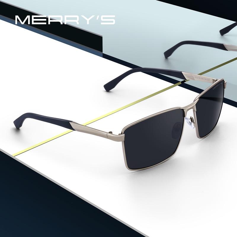 MERRYS gafas de sol polarizadas HD para hombre gafas de sol rectangulares clásicas para conducir TR90 piernas protección UV400 S8380