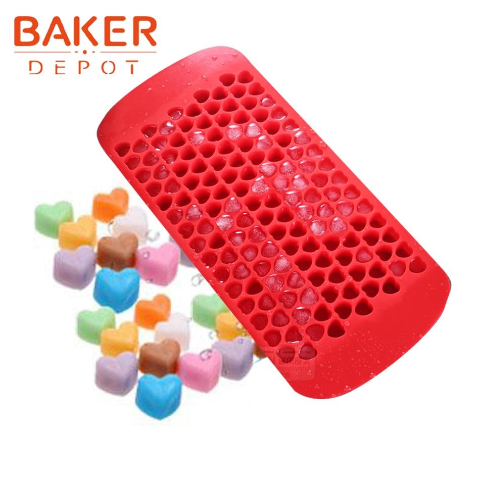 BAKER DEPOT silikon form für eis herz form schokolade eiswürfel platz candy gummy fondant form kuchen backen backformen formen