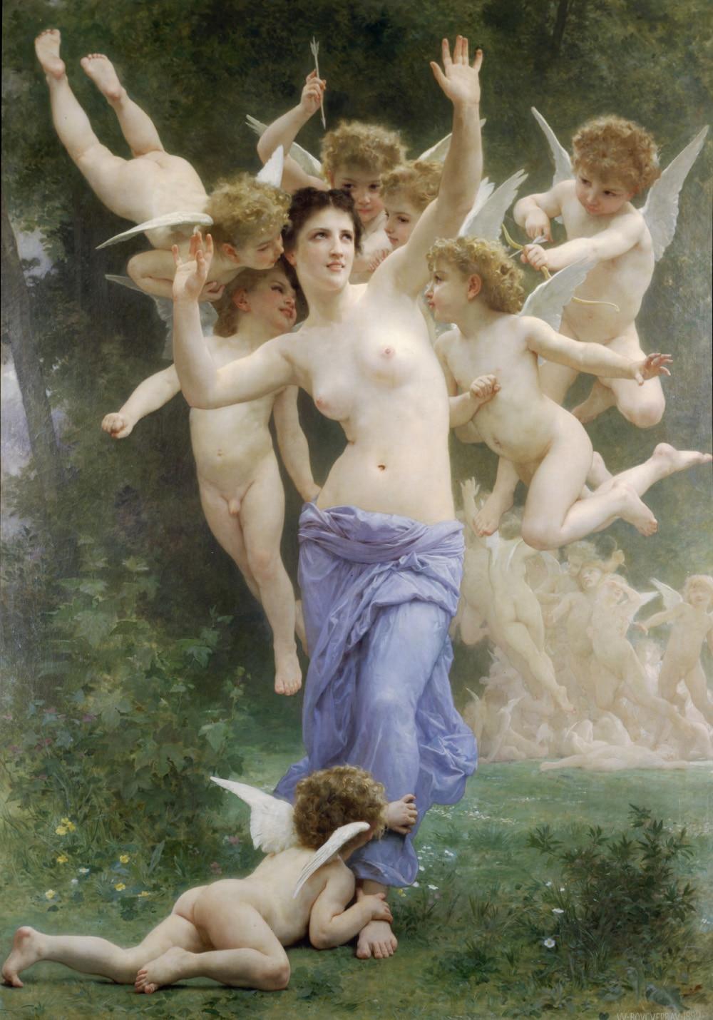 Pintura a Óleo da Lona Custo de Transporte nu a Madonna com Anjos Pintura Atacado Qualidade Polegadas Top Art Arte – Gratuito Boa 36