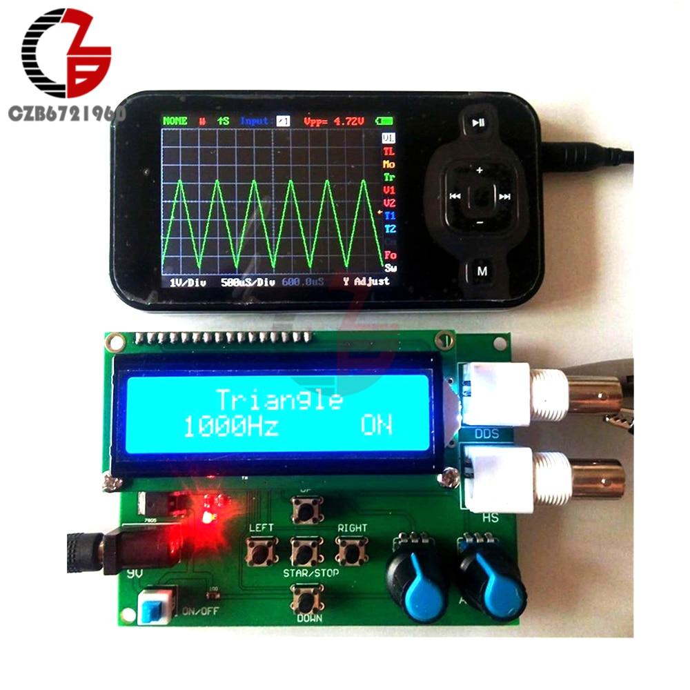 DDS Function Signal Generator DIY Kit Module Sine Square Sawtooth Triangle Wave Function Generator 1602 Digital LCD Display